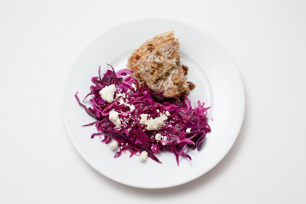 Pork Chop w/ cabbage slaw from the fridge (m€)