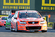 Team Vodafone's Jamie Whincup on his way to second place  during  Race 5 of the ITM 400 Hamilton,Hamilton Street Circuit, Day Two, Hamilton City ,V8 supercars,, Photo: Dion Mellow / photosport.co.nz
