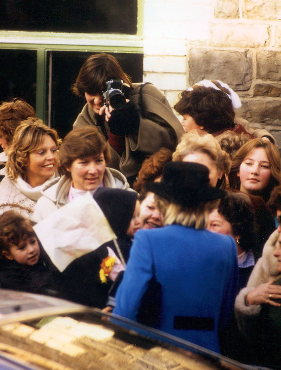 British photographer Jayne Fincher seen photographing the Princess of Wales in Cardiff, Wales in 1983.