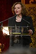 Officiele Huldiging van de Olympische medaillewinnaars Sochi 2014 / Official Ceremony of the Sochi 2014 Olympic medalists.<br /> <br /> Op de foto: minister Edith Schippers