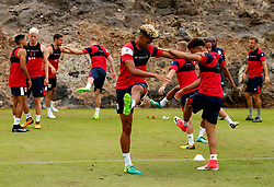 Lloyd Kelly of Bristol City warms up with team mates ahead of a light training session - Mandatory by-line: Matt McNulty/JMP - 21/07/2017 - FOOTBALL - Tenerife Top Training Centre - Costa Adeje, Tenerife - Pre-Season Training