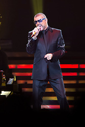 October 13, 2012 - London, Greater London, England - George Michael (born Georgios Kyriacos Panayiotou) performs at Earls Court Exhibition Centre, London, England, UK on 13th October 2012 as part of his rescheduled Symphonica Tour. (Credit Image: © Justin Ng/Avalon via ZUMA Press)