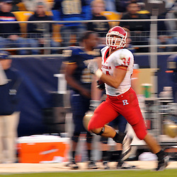 Oct 25, 2008; Pittsburgh, PA, USA; Rutgers linebacker Kevin Malast returns an interception during the fourth quarter of Rutgers' 54-34 victory over Pittsburgh at Heinz Field.