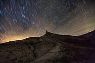 Night sky with stars by the Venchan hill