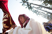 Guatemala, Guatemalan culture, Central America, Antigua, Santa Maria de Jesus, Semana Santa, Holy Week, processions, Easter, Lent, Cuaresma, Jesus, mass, cross, parade, people, person, faces, Church, Catholic, Christian, ceremony