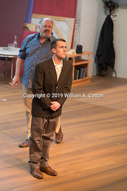 """The Bas Bleu Theatre Company rehearses its production of """"Red,"""" March 14, 2019."""