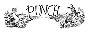 Punch Charivaria title heading (lamb and March hare)