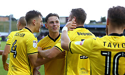 Charlie Colkett of Bristol Rovers celebrates with teammates after scoring a last minute winning goal against Northampton Town - Mandatory by-line: Robbie Stephenson/JMP - 01/10/2016 - FOOTBALL - Sixfields Stadium - Northampton, England - Northampton Town v Bristol Rovers - Sky Bet League One