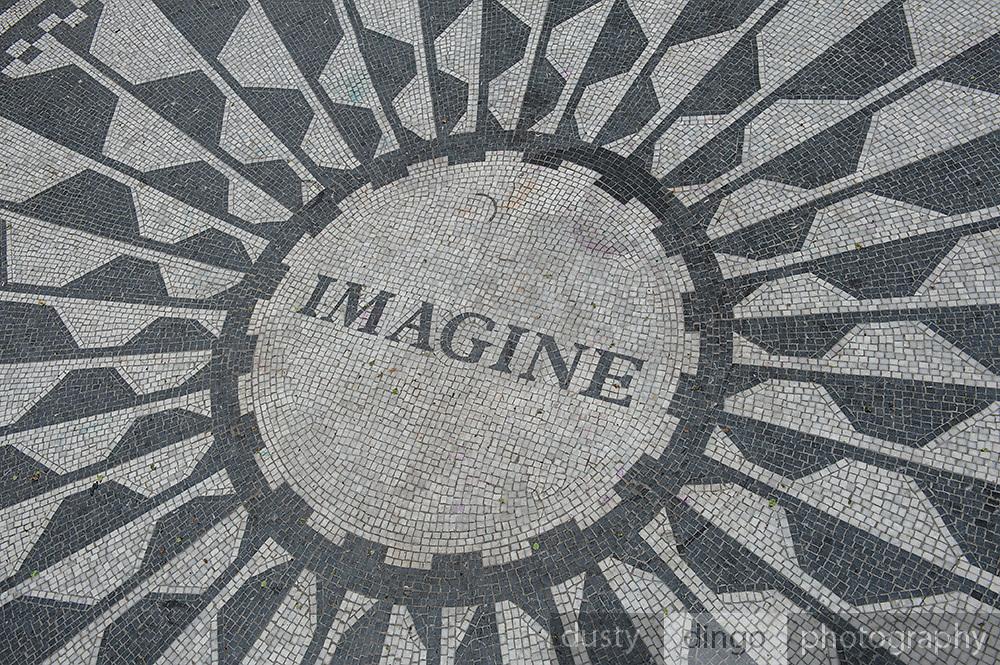 John Lennon memorial, Central Park, Manhattan, New York