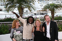 Actress Margarethe Tiesl, Actor Peter Kazungu, Actress Inge Maux, Director Ulrich Seidl at the photocall for the film Paradies : Liebe at the 65th Cannes Film Festival. Friday 18th May 2012 in Cannes Film Festival, France.