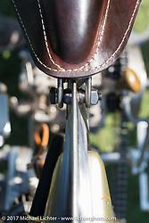 Matt Harris' 1921 Harley-Davidson JD (modeled after 1918 HD patent) at the Born Free 9 Motorcycle Show at Oak Creek Ranch. Silverado, CA. USA. Saturday June 24, 2017. Photography ©2017 Michael Lichter.