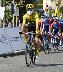 La Tour Du Pin Isere; le 15/09/2020 : Le slovene ROGLIC Primoz TEAM JUMBO - VISMA maillot Jaune au depart de la 16 eme etape du tour de France entre La Tour du Pin et Villard De Lans Isere.//ALLILIMOURAD_1750.1507/2009161603/Credit:ALLILI MOURAD/SIPA/2009161604 / Sportida