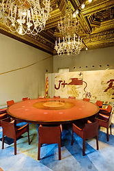 A committe room in the Palau de la Generalitat which houses the offices of the Presidency of the Generalitat de Catalunya in Barcelona.<br /> <br /> (c) Andrew Wilson | Edinburgh Elite media