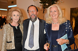 Left to right, LADY WOLFSON and The EARL & COUNTESS OF STOCKTON at the Masterpiece Marie Curie Party supported by Jeager-LeCoultre held at the South Grounds of The Royal Hospital Chelsea, London on 30th June 2014.