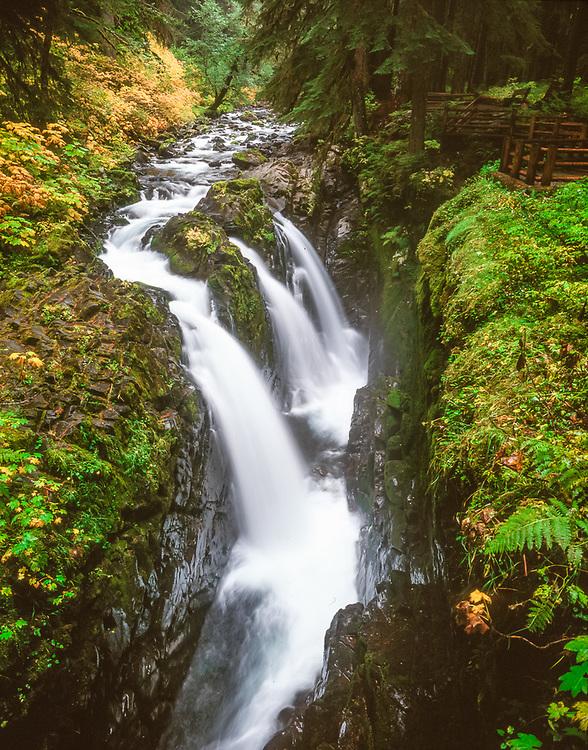 Sol Duc Falls, autumn, Olympic National Park, Washington, USA