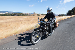 Brian Pease riding his 1916 Henderson on the Motorcycle Cannonball coast to coast vintage run. Stage 15  (51 miles - the Grand Finish) from The Dalles to Stevenson, OR. Sunday September 23, 2018. Photography ©2018 Michael Lichter.