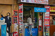 Mobile phone shop on 29th January 2018  in Jaisalmer, Rajasthan, India. 25 Years Ago, the First Mobile Phone Call Was Made in India, Costing Over Rs 8/Minute. The number of smartphone users in India has  reached over 700 million in 2021 with over 1 billion mobile connections.