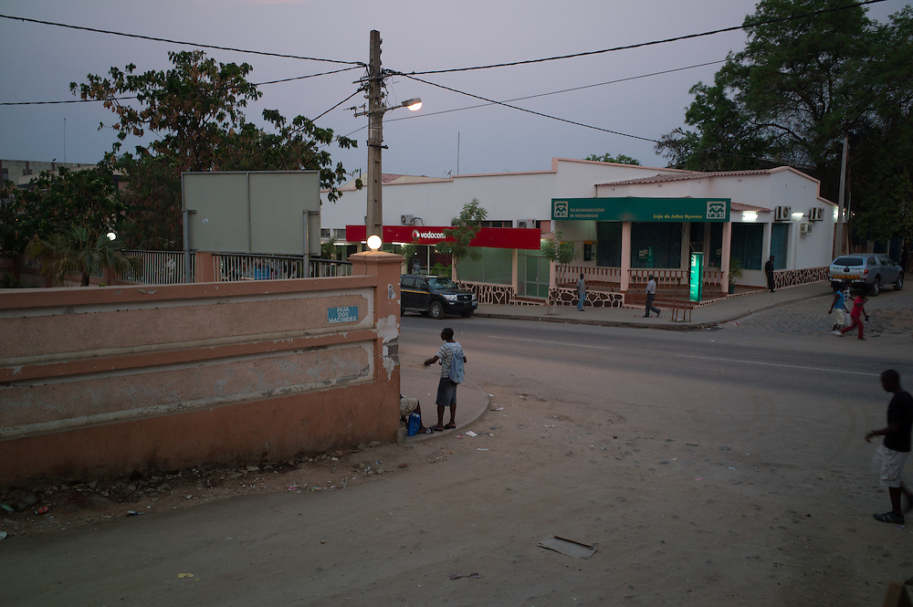 Tete City, Tete Province of Mozambique. Street scene. Tete City, Tete Province of Mozambique.  Tete is currently booming due to its large coal ressources explored mostly by foreign companies like Vale or Riversdale/Rio Tinto.