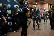 Rory MacDonald arrives before his fight against Robbie Lawler during UFC 189 at the MGM Grand Garden Arena in Las Vegas, Nevada on July 11, 2015. (Cooper Neill)