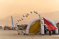 String of Silver Balloons - https://Duncan.co/Burning-Man-2021