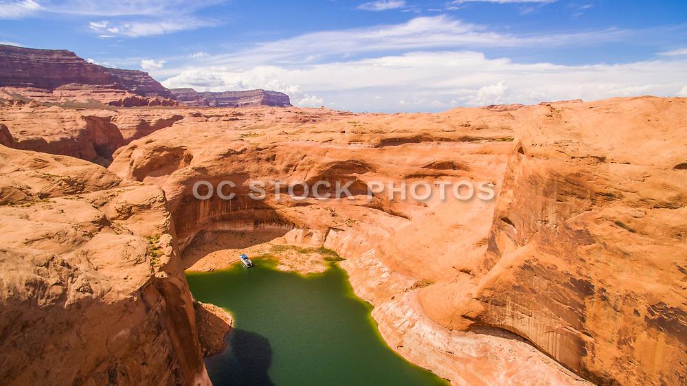 Drone Photo of Reflection Canyon Lake Powell Utah