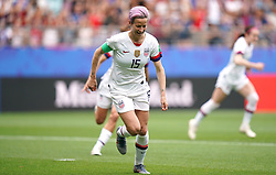 USA's Megan Rapinoe celebrates scoring her side's first goal of the game