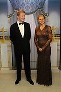 Nederlandse Royals in het Wassenbeeldenmuseum Madame Tussauds , Amsterdam.<br /> <br /> Op de foto:  Het Wassenbeeld van Kroonprins Willem Alexander en Prinses Maxima