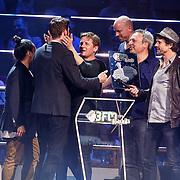 NLD/Utrecht/20150409 - Uitreiking 3FM Awards 2015, Racoon wint een award