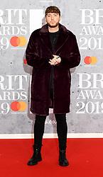 February 21, 2019 - London, London, United Kingdom - Image licensed to i-Images Picture Agency. 20/02/2019. London, United Kingdom. James Arthur  at the Brit Awards in London. (Credit Image: © i-Images via ZUMA Press)