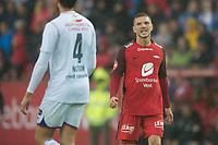 Fotball<br /> 02.07.2017<br /> Eliteserien<br /> Brann Stadion<br /> Brann - Vålerenga<br /> Jonatan Tollås Nation (L) , Vålerenga<br /> Gilli Rolantsson (R) , Brann<br /> Foto: Astrid M. Nordhaug