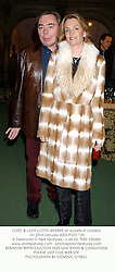 LORD & LADY LLOYD-WEBBER at a party in London on 23rd January 2003.	PGO 135