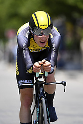 June 7, 2017 - Bourgoin Jallieu, France - BOURGOIN-JALLIEU, FRANCE - JUNE 7 : VAN HOECKE Gijs (BEL) Rider of Team Lotto NL - Jumbo during stage 4 of the 69th edition of the Criterium du Dauphine Libere cycling race, an individual time trail of 23,5 kms between La Tour-du-Pin and Bourgoin-Jallieu on June 07, 2017 in Bourgoin-Jallieu, France, 7/06/2017 (Credit Image: © Panoramic via ZUMA Press)