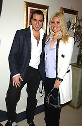 BARON BLOOM and his sister BEVERLEY BLOOM  at a Conservative Party Reception for the Art held at 24 Thurloe Square, Lndon SW7 on 5th April 2005.<br /><br />NON EXCLUSIVE - WORLD RIGHTS