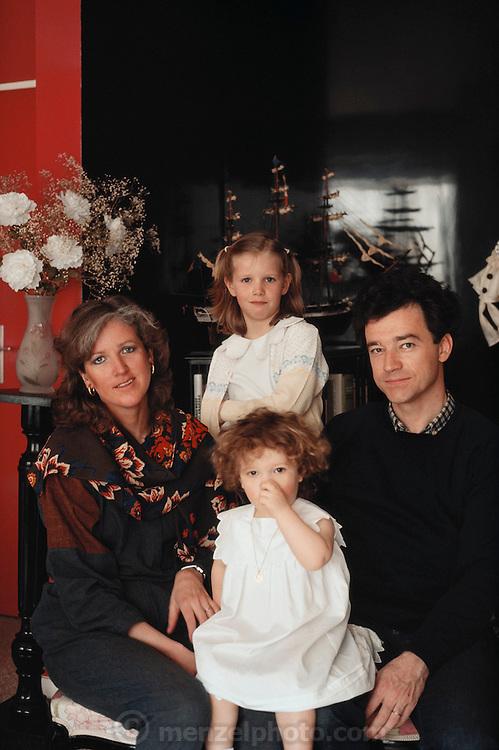 Paris, France. Dumont family. MODEL RELEASED.