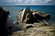 Japan Yakushima island - Rocks on the sea side.
