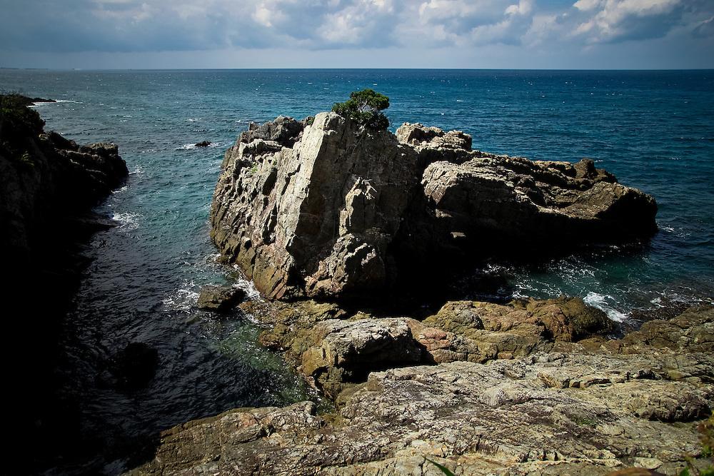 Japan Yakushima island - Rocks on the sea side.
