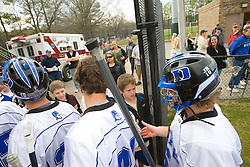 23 February 2008: Duke Blue Devils men's lacrosse in a 19-7 win over the Vermont Catamonts at Koskinen Stadium in Durham, NC