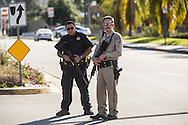Shooting in San Bernardino.<br /> Law enforcement officers set up road blocks in San Bernardino to hopefully catch the shooters.