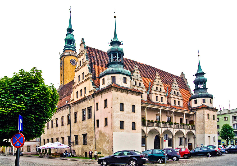 Rynek - ratusz, Brzeg, Polska<br /> Market place - town hall, Brzeg, Poland