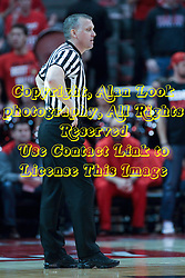 17 January 2015:   Referee Tim Fitzgerald during an NCAA MVC (Missouri Valley Conference men's basketball game between the Bradley Braves and the Illinois State Redbirds at Redbird Arena in Normal Illinois