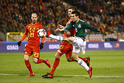 November 10, 2017 - Bruxelles, Belgique - Laurent Ciman defender of Belgium and Thomas Meunier defender of Belgium and Lozano of Mexico (Credit Image: © Panoramic via ZUMA Press)