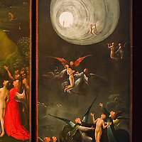 """"""" Ascent in the Empyrean"""" part of the """"Paradise and Hell"""" panels by Hieronymus Bosch on display in the Tribuna room at Palazzo Grimani. The  exhibition will be open until 20th March 2011"""