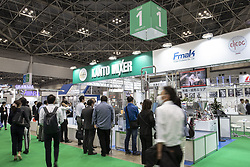 June 15, 2018 - Tokyo, Japan - Visitors gather during the International Food Machinery and Technology Exhibition (FOOMA JAPAN) in Tokyo Big Sight, Tokyo, Japan. The annual exhibition introduces 798 companies' latest products and services for food processing industry distributed in 8 halls of Tokyo Big Sight. FOOMA JAPAN runs from June 12 to 15. (Credit Image: © Rodrigo Reyes Marin/via ZUMA Wire via ZUMA Wire)