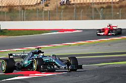 February 27, 2017 - Barcelona, Spain - The Marcedes of Valtteri Bottas and the Ferrari of Sebastian Vettel during the Formula 1 tests held in the Barcelona-Catalunya Circuit, on february 27, 2017. Photo: Jordi Galbany/Urbanandsport/Nurphoto  (Credit Image: © Jordi Galbany/NurPhoto via ZUMA Press)