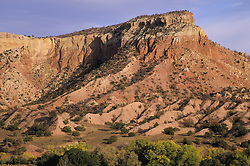 North America, United States, New Mexico, Ghost Ranch, mountain and valley