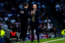 Ajax manager Erik ten Hag - Mandatory by-line: Robbie Stephenson/JMP - 30/04/2019 - FOOTBALL - Tottenham Hotspur Stadium - London, England - Tottenham Hotspur v Ajax - UEFA Champions League Semi-Final 1st Leg