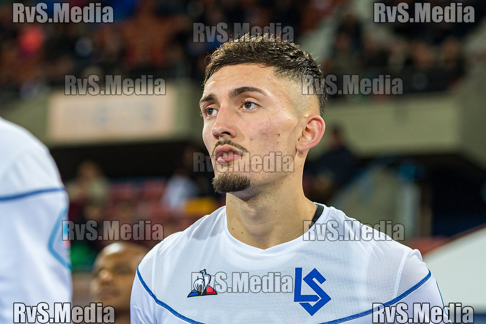LAUSANNE, SWITZERLAND - NOVEMBER 22: #9 Andi Zeqiri of FC Lausanne-Sport looks on during the Challenge League game between FC Lausanne-Sport and FC Wil at Stade Olympique de la Pontaise on November 22, 2019 in Lausanne, Switzerland. (Photo by Robert Hradil/RvS.Media)
