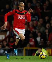 Photo: Steve Bond/Richard Lane Photography. Manchester United v Blackburn Rovers. Barclays Premiership 2009/10. 31/10/2009. Gabriel Obertan makes headway