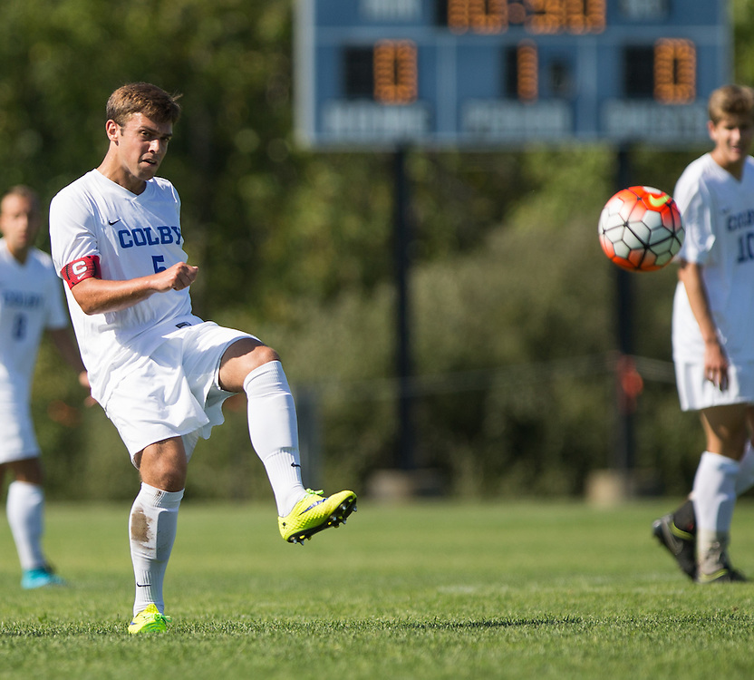 Dan Vogel of Colby College during a NCAA Division III soccer game against Williams College on September 19, 2015 in Waterville, ME. (Dustin Satloff/Colby College Athletics)