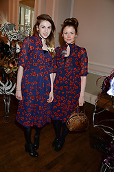 Left to right, LAURA HALL and NICOLA WOODS at the The Animal Ball – Masking Up Moment held at the Quintessentially Ballrooms, 29 Portland Place, London W1 on 10th June 2013.
